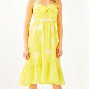 NWT Lilly Pulitzer yellow Eloisa midi dress